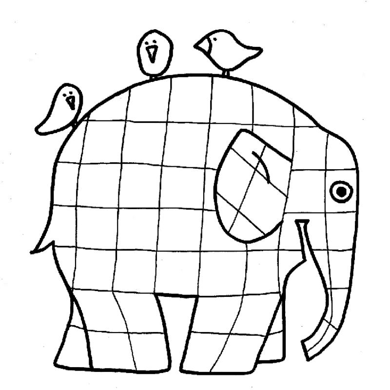 kolorowanka elmer