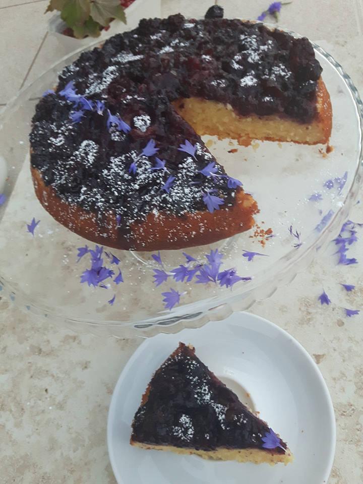 ciasto z jeżynami Olivier