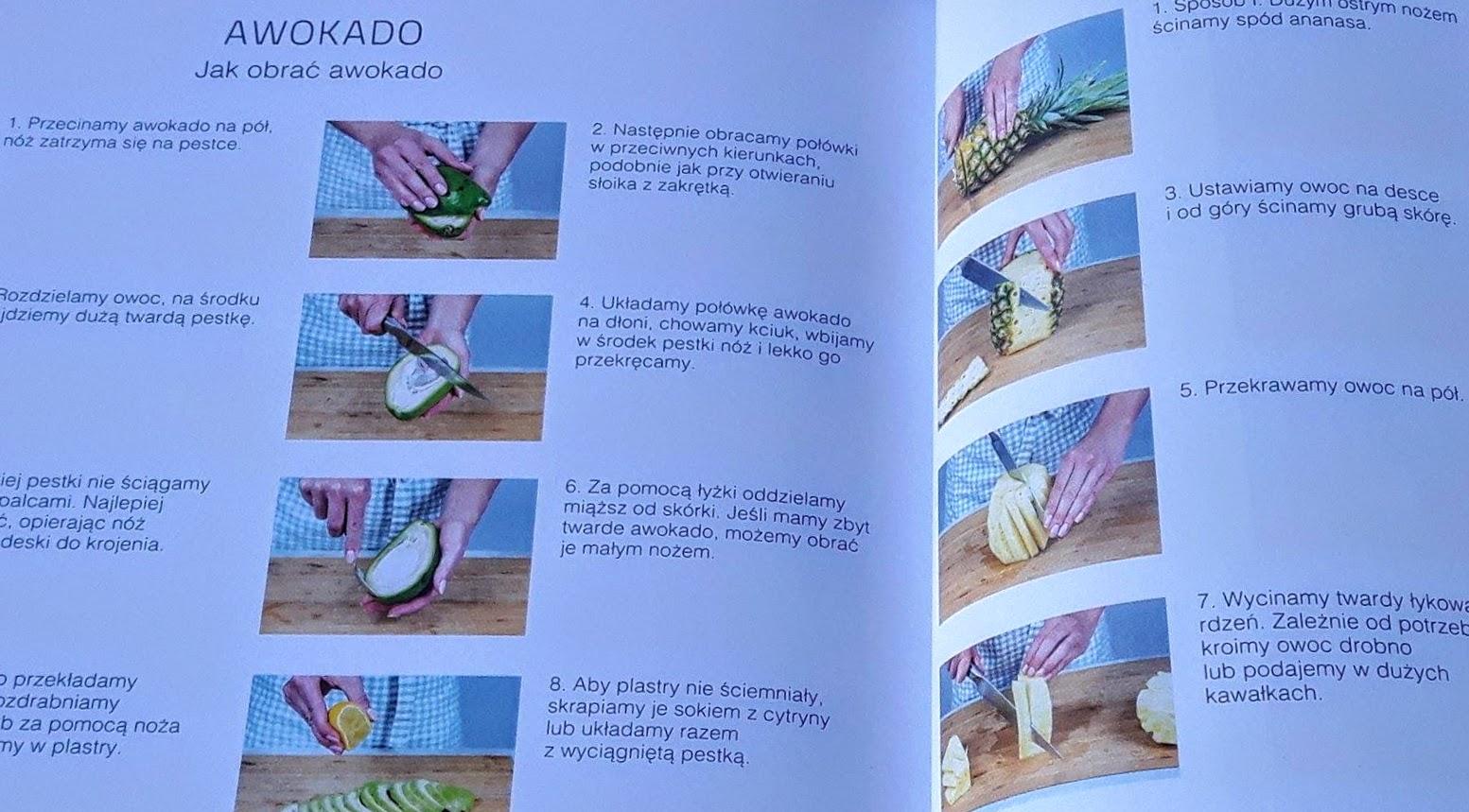 jak obrac awokado i ananasa
