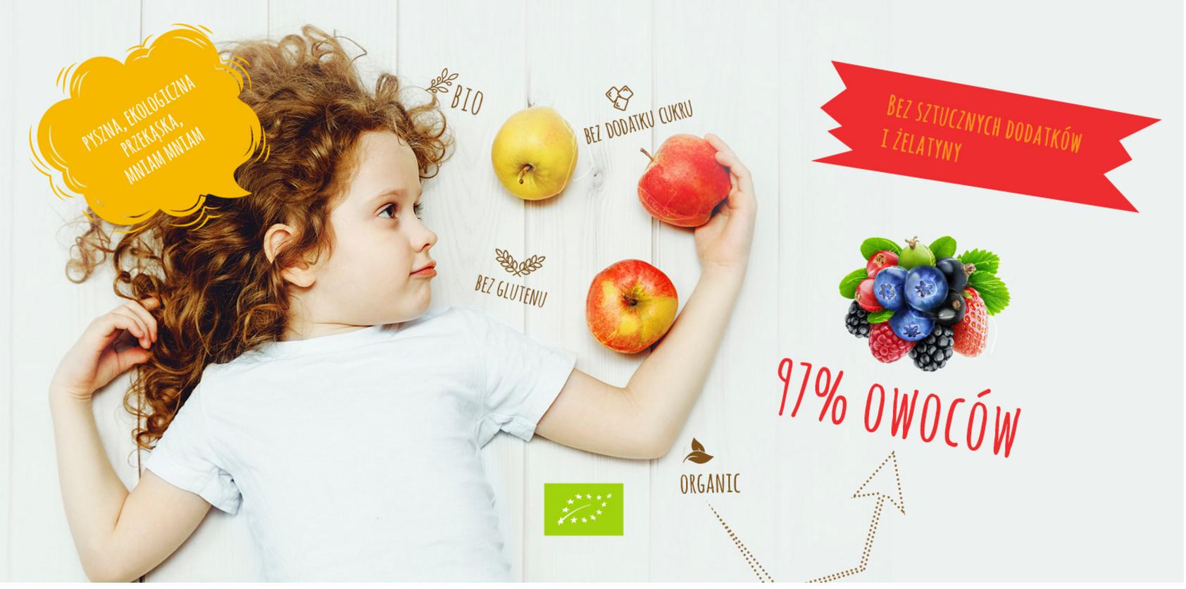 Bezpieczne żelki dla dzieci frutaki