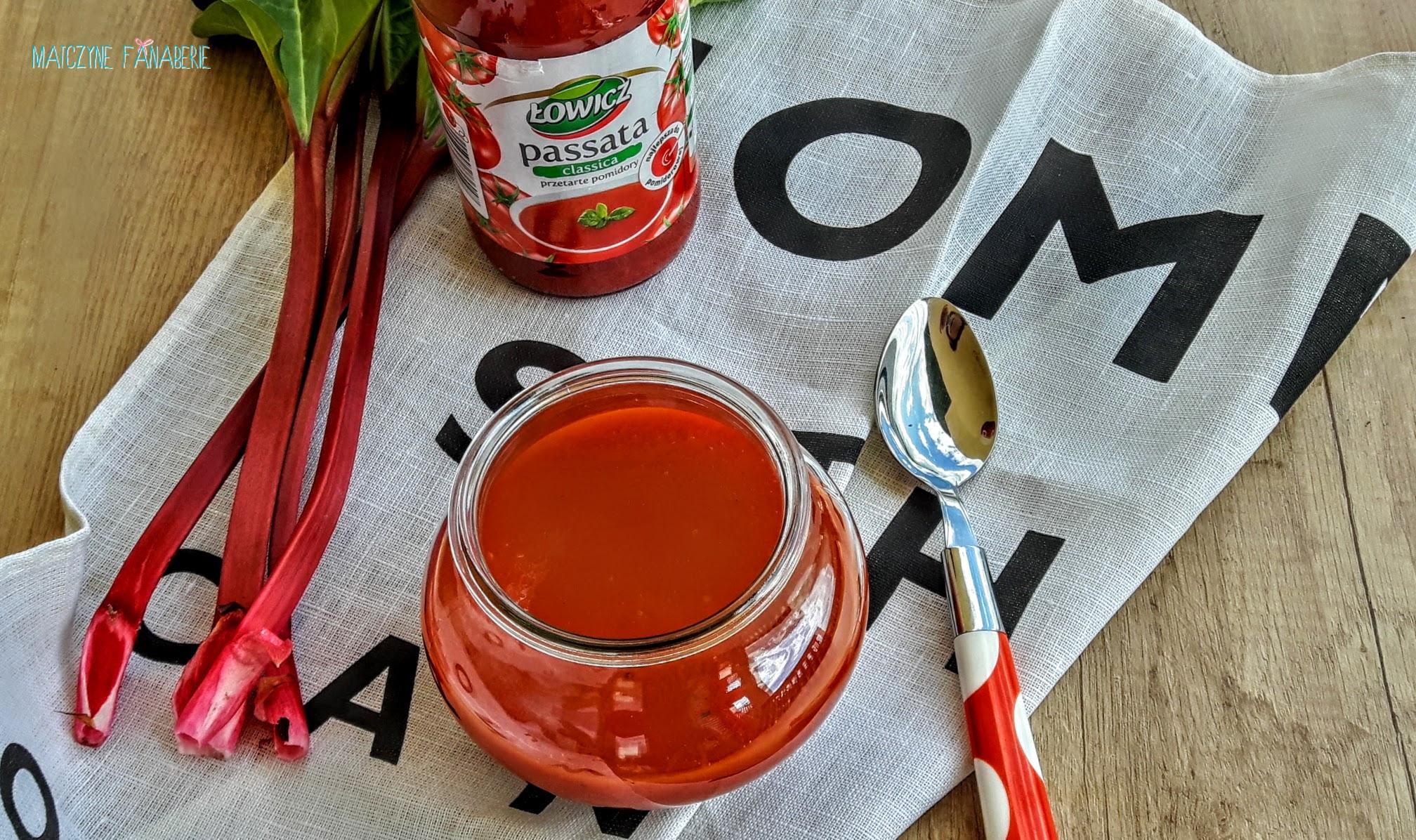 Najlepsza zupa pomidorowa z rabarbarem