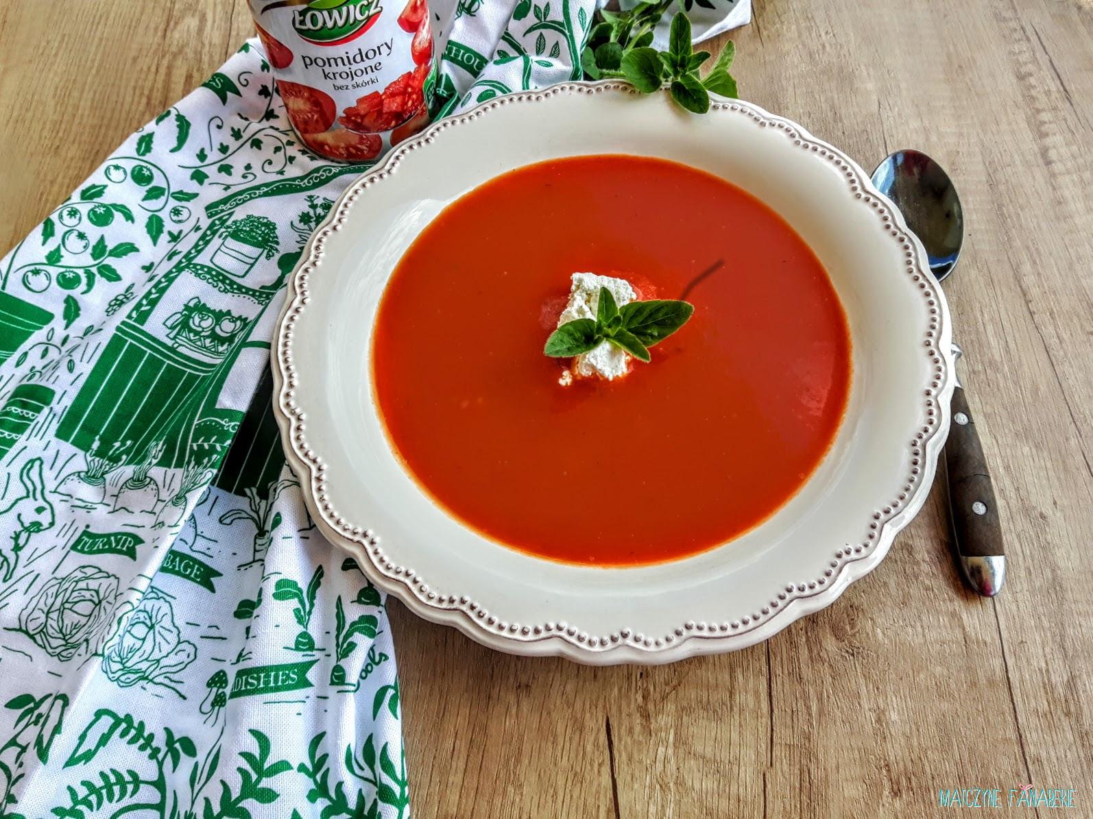 zupa z pieczonej papryki i pomidorow