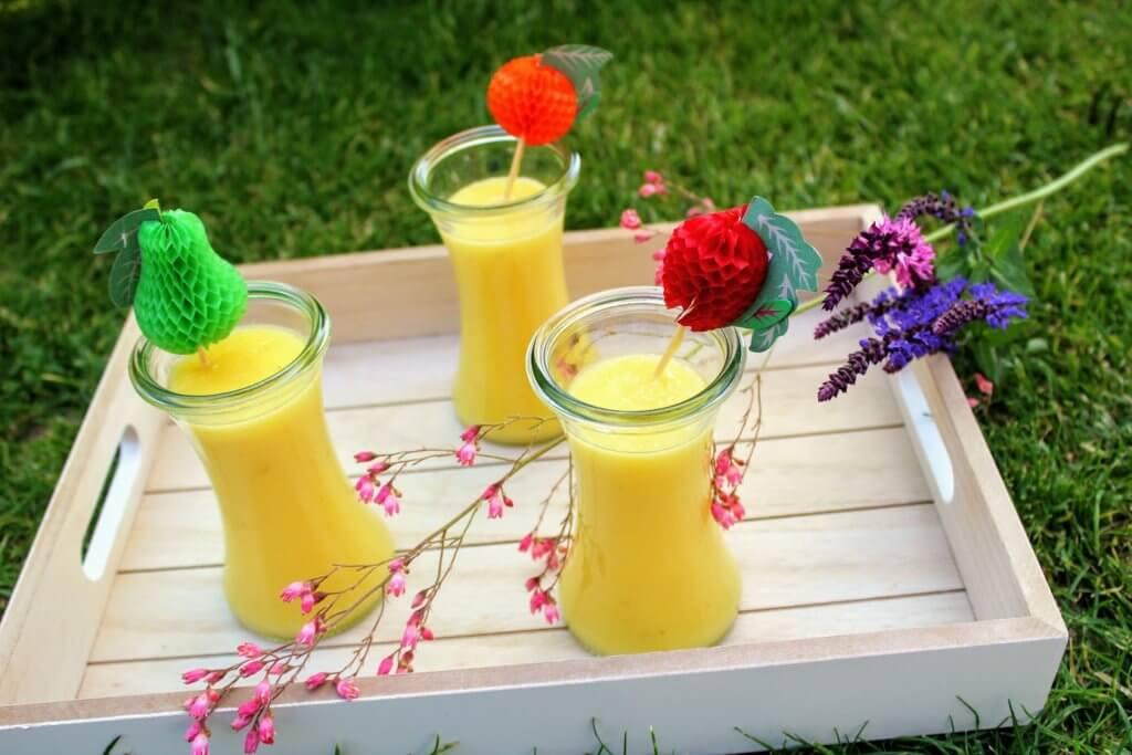 jak zrobić słoneczny koktajl dla dzieci