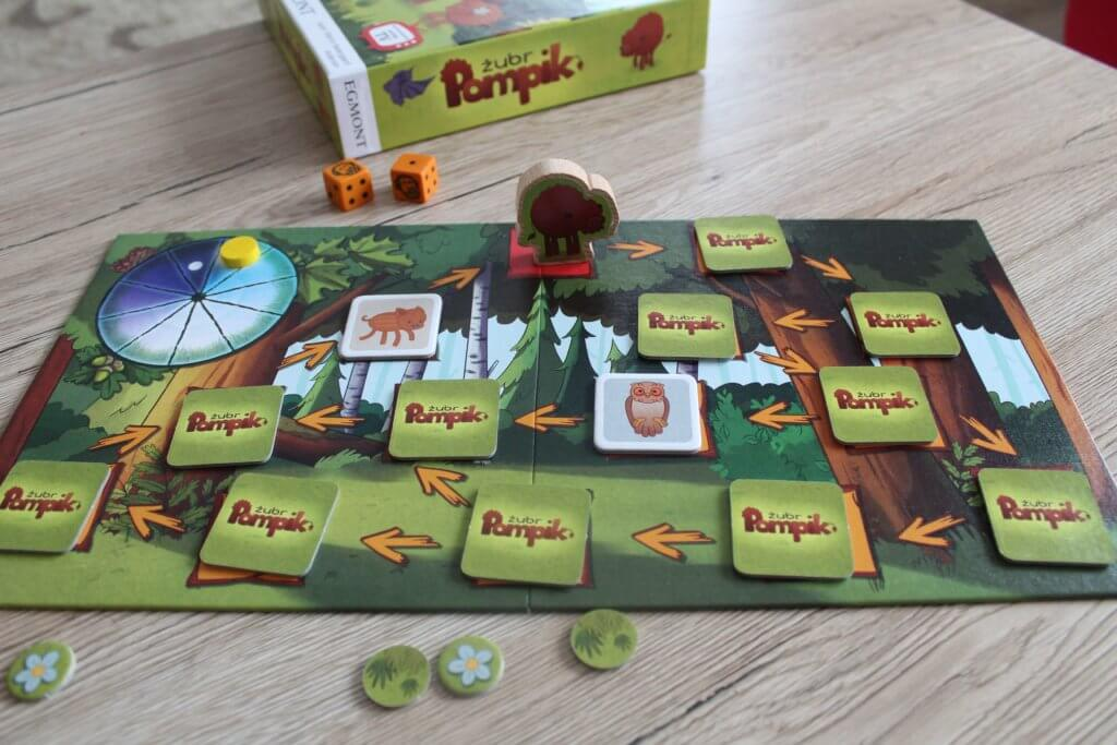 gra planszowa dla czterolatka Żubr Pompik