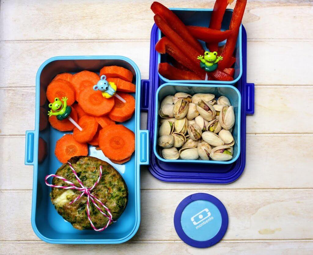 lunch box do szkoły babeczki ze szpinakiem