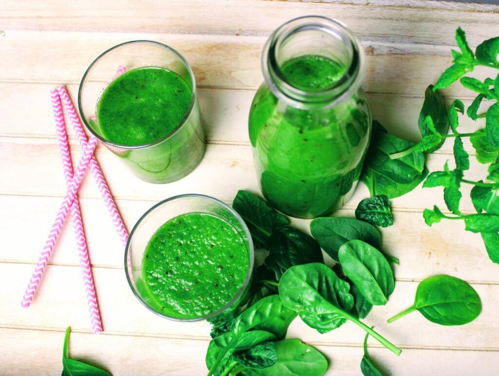 zielony koktajl dla dzieci