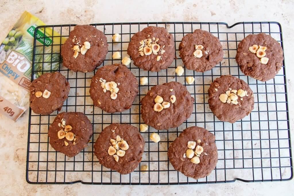 kokosowe ciastka czekoladowe