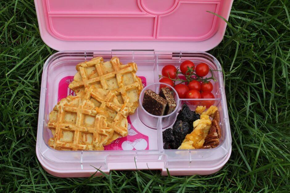 sposoby  na lunchbox  do szkoły - gofry