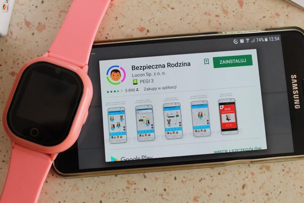 zegarek z telefonem aplikacja