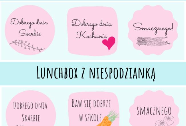 lunchbox do szkoły karteczki
