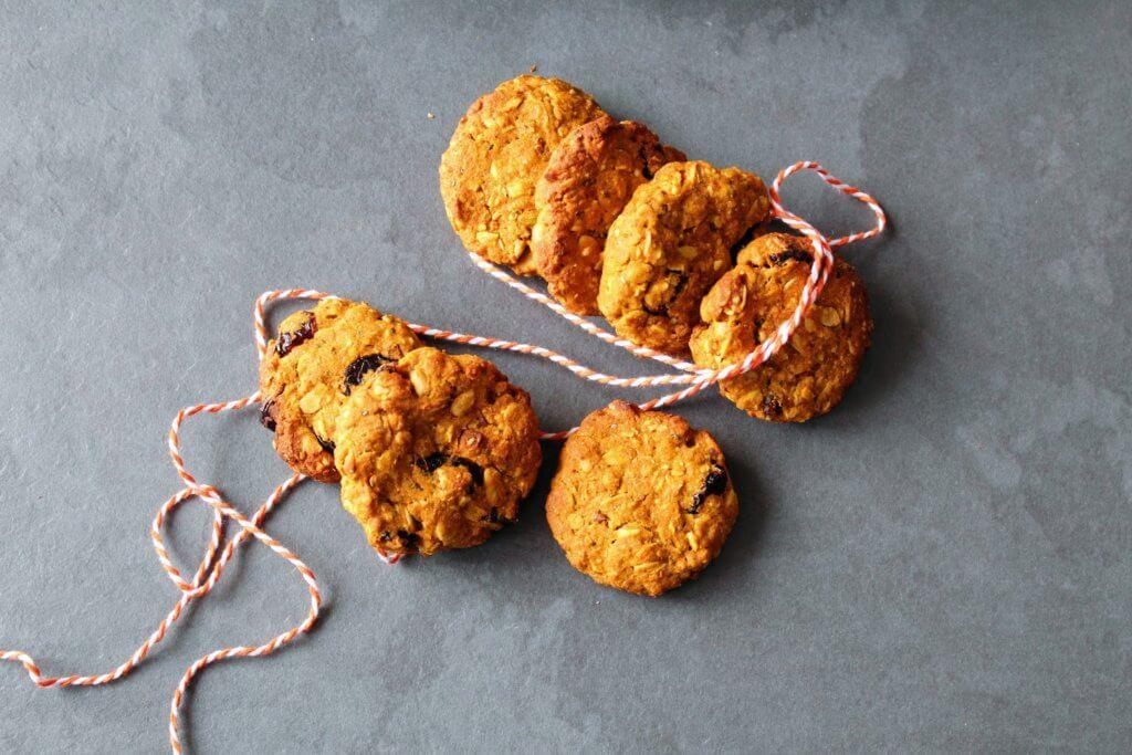 Dyniowe ciastka owsiane dla dzieci