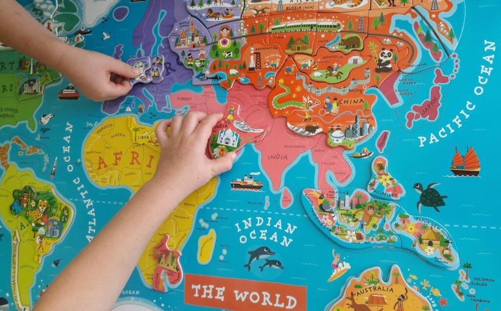 Mapa świata Janod