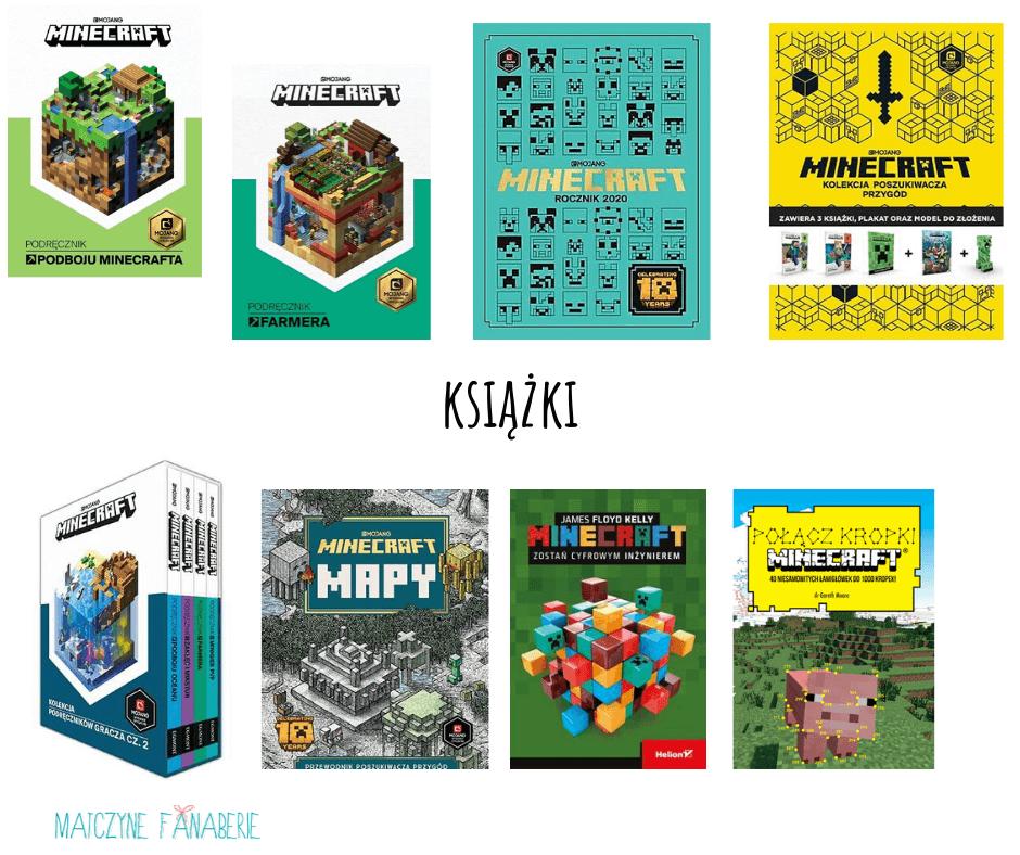 książki jako prezent dla fanów minecrafta