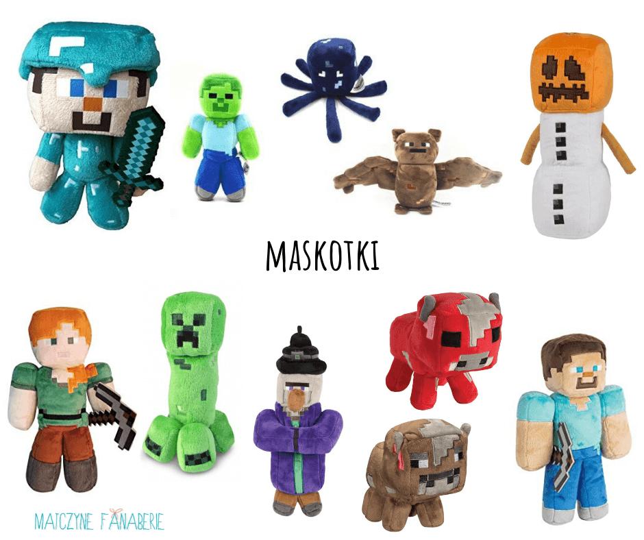 prezent  dla fanów Minecrafta - pluszaki