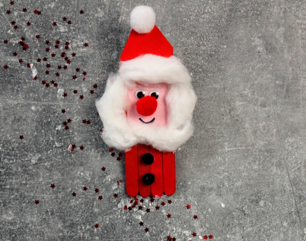 Ozdoby z patyczków na Boże Narodzenie - mikolaj