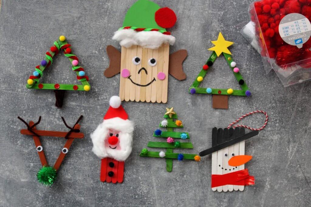 Ozdoby z patyczków na Boże Narodzenie