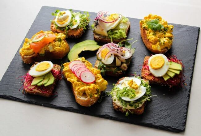 kanapki z jajkiem
