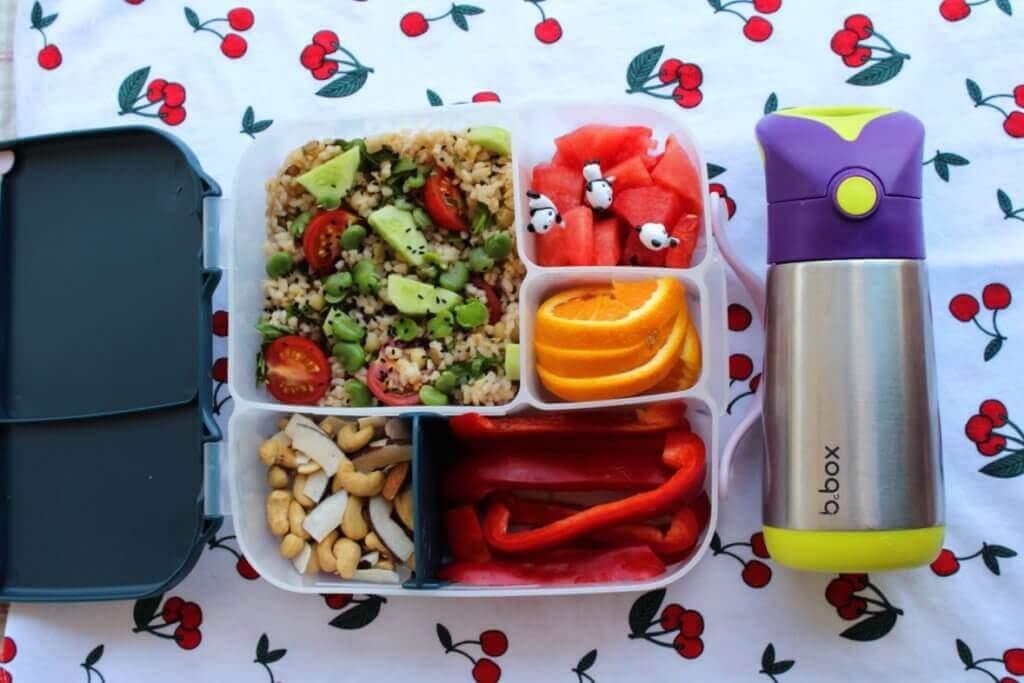 wielokomorowy lunchbox do szkoły bbox