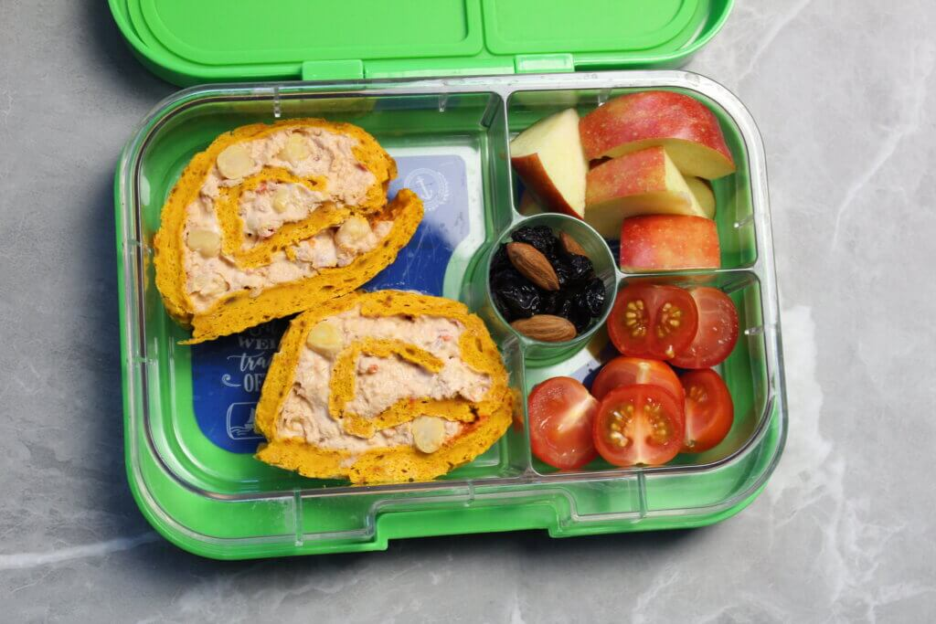 rolada dyniowa lunchbox do szkoły