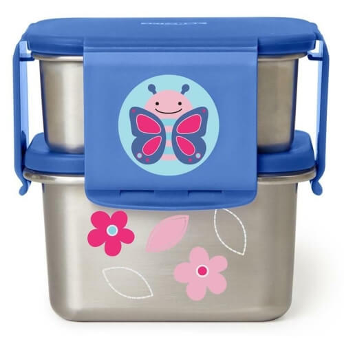 stalowy pojemnik śniadaniowy dla dziecka