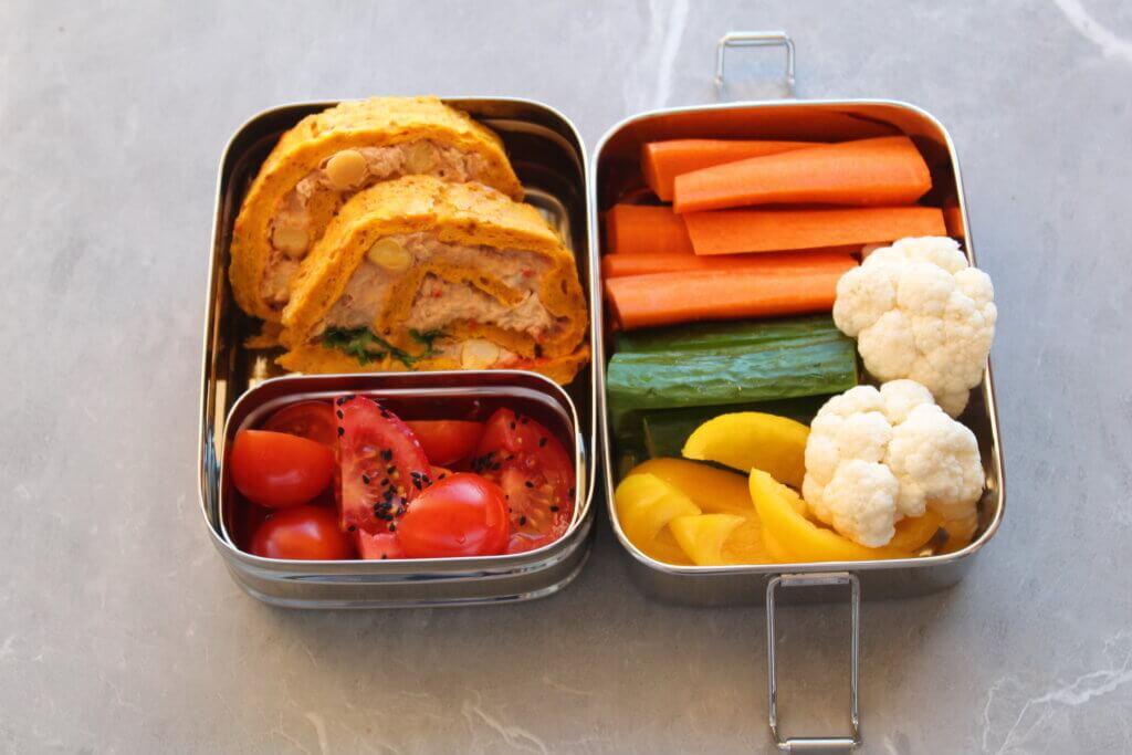 stalowy lunchbox do szkoły