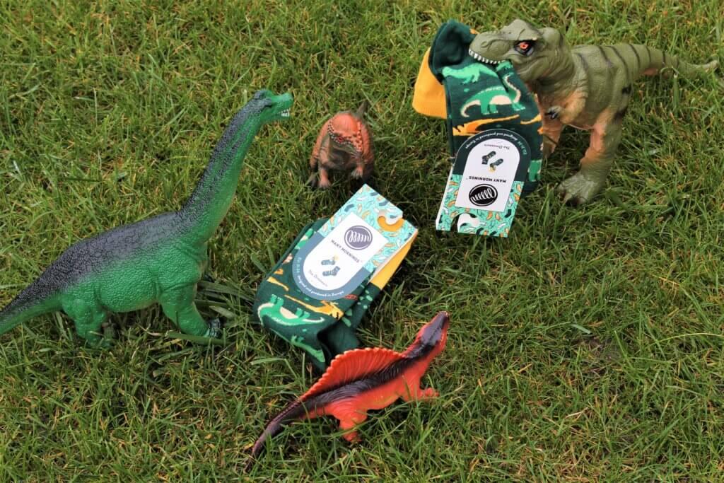 dinozauy skarpety dinovember