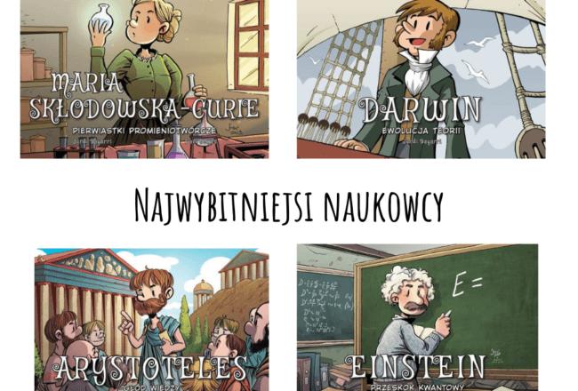 najwybitniejs naukowcy komiks